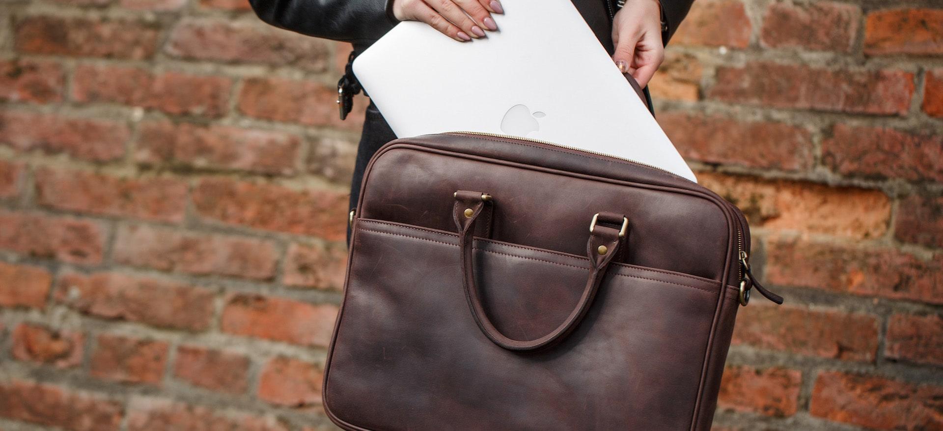 шкіряна сумка для ноутбука