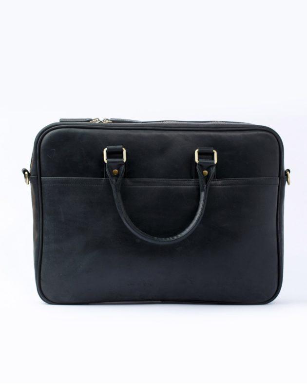 шкіряна чорна сумка