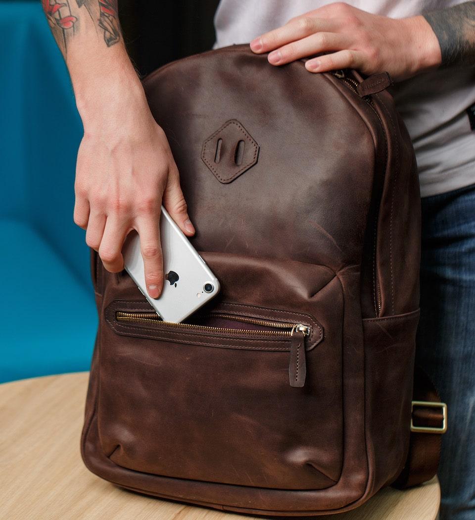 коричневий рюкзак від olpr