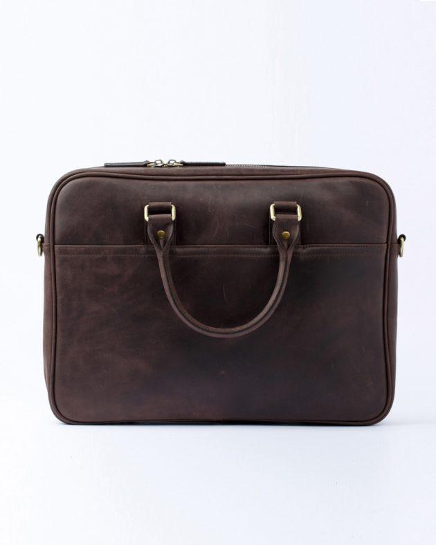коричнева сумка для лептопів