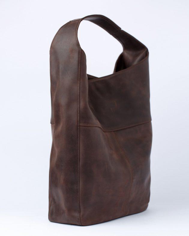 коричнева шкірна хобо сумка
