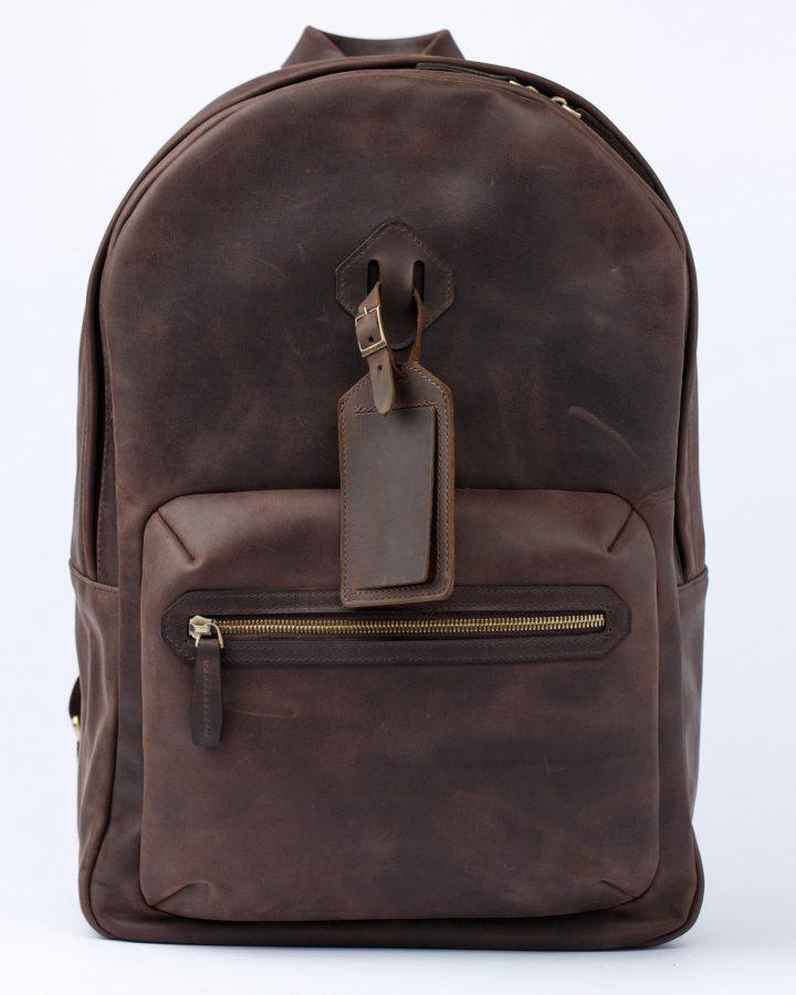 рюкзак міський зі шкіри
