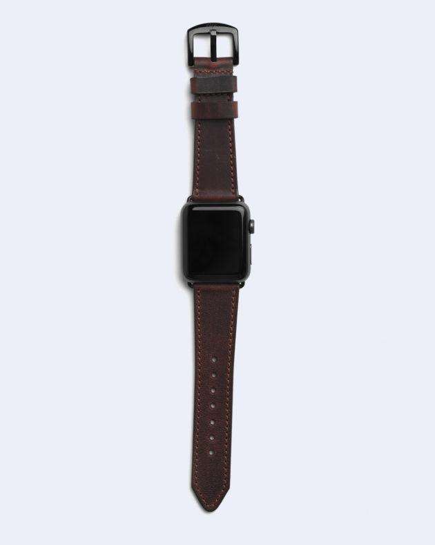 Apple часы ремешок кожа коричневый