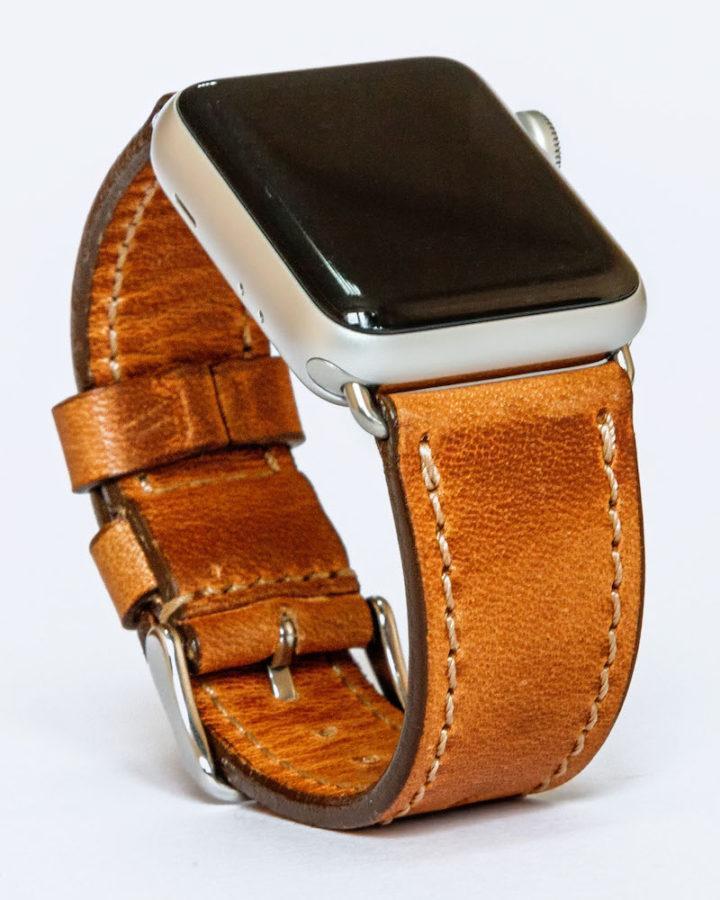 Шкіряний ремінець для годинника Apple натуральний