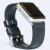 шкіряний ремінець для годинника apple чорний