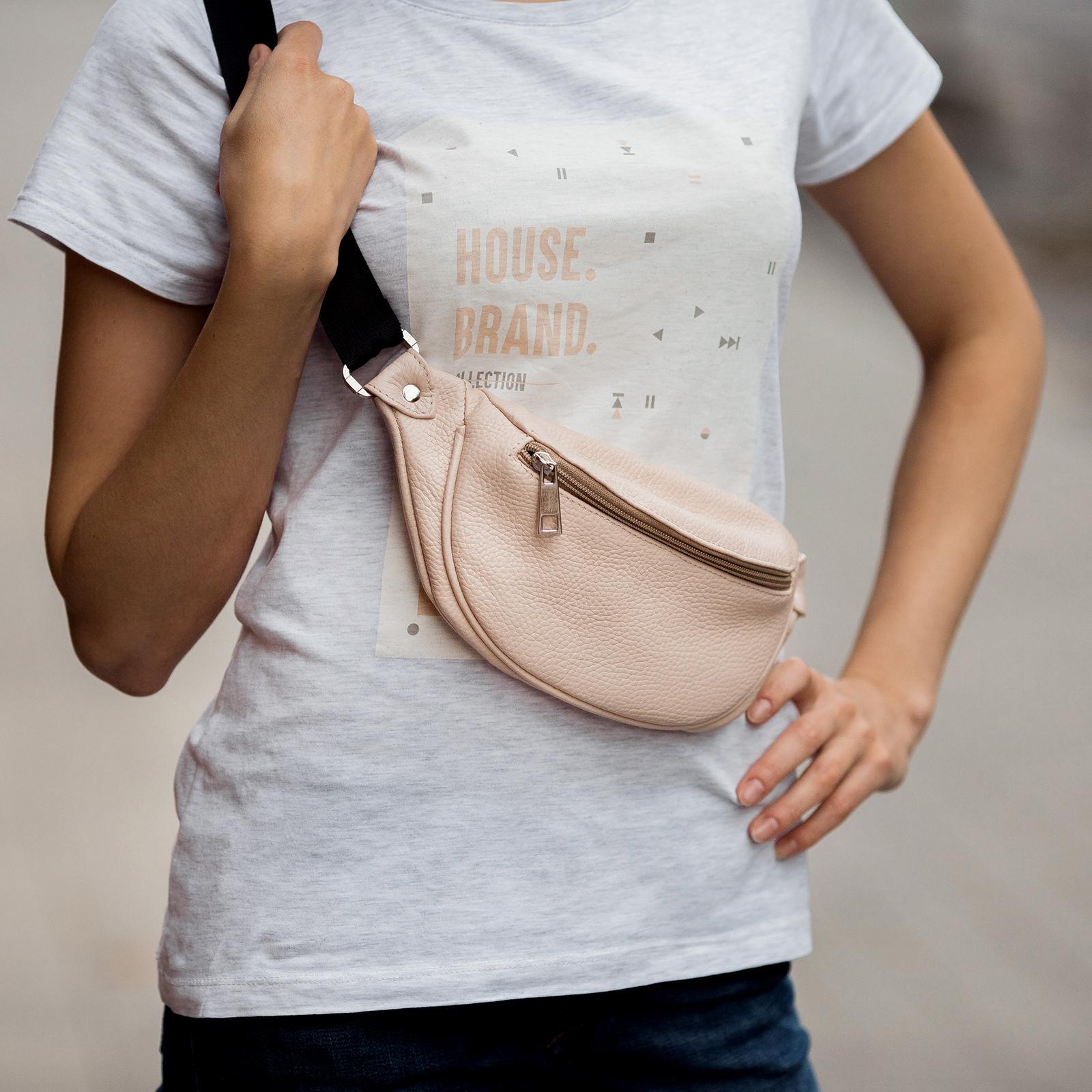 Фото: сумка бананка шкіряна жіноча