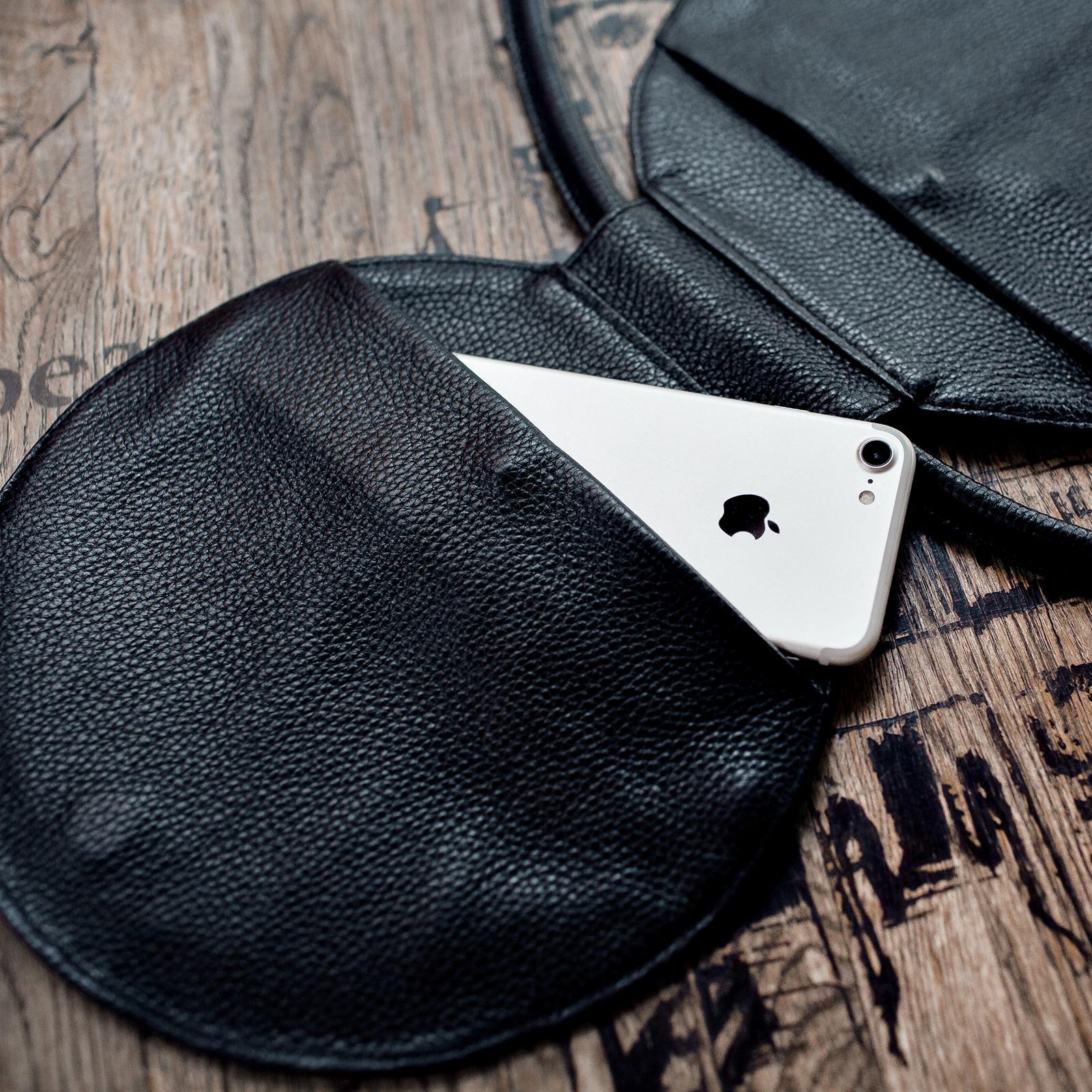 Фото: сумка кругла olpr. чорна