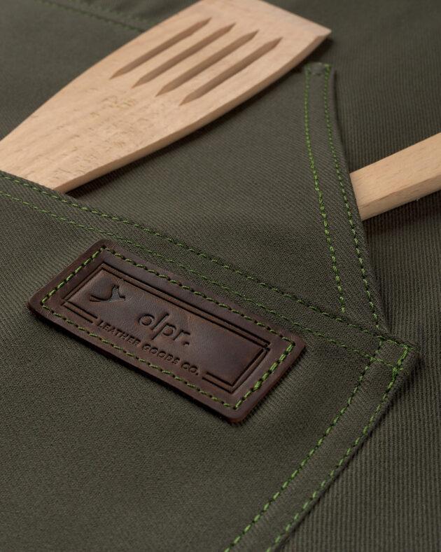 Професійний фартух з бавовни зелений